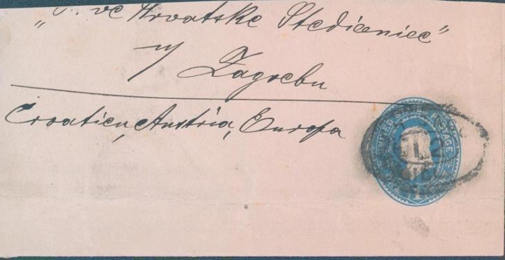 20B8 USA celinový dopis do Záhřebu / Zagreb - Filatelie