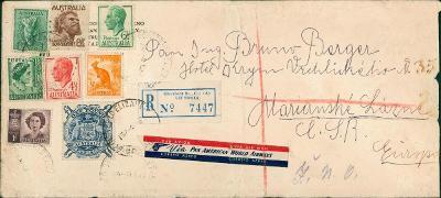 22B7 Dopis Austrálie, Elizabeth, Victoria-1 Libra známka R! - Mar.Láz.