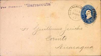 20B229 USA,lodní pošta - SMS BARRACOUTA/ Jericho, MATAGALPA- Nicaragua