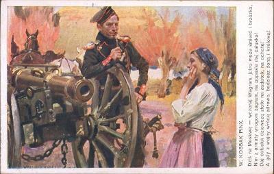 10C226 Polní pošta- 1.světová válka, W.KOSSAK- dělostřelec, Olomouc