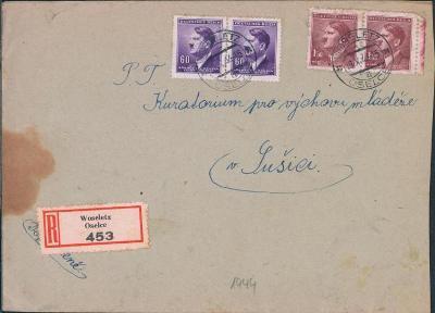 12B724 Kuratorium pro výchovu mládeže Sušice/ OSELCE, R- dopis