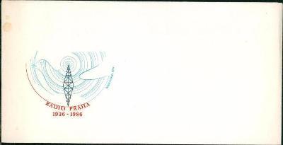 11C231 Neprošlá služeb obálka - přítisk RADIO PRAHA 1936-86 rarita !!
