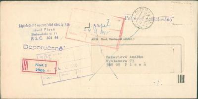 10B3334 R dopis ZČE Plzeň včetně obsahu
