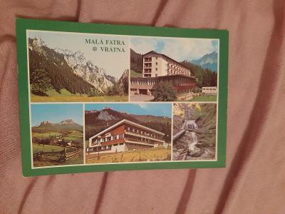 Pohlednice MALÁ FATRA - VRÁTNA,prošlé poštou