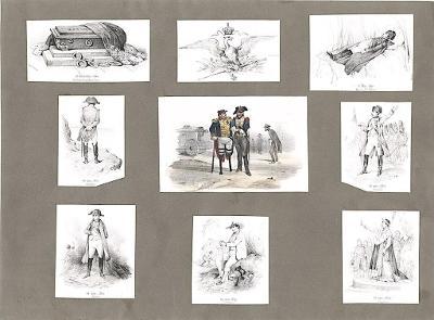 Napoleon scény na života, litografie, (1860)
