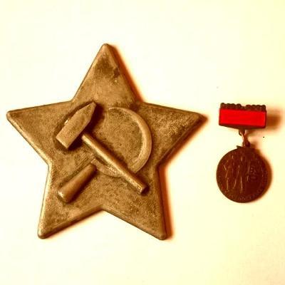 Dvě Socialistická Vyznamenání ,BSP bronz a Velká Sovětská Hvězda