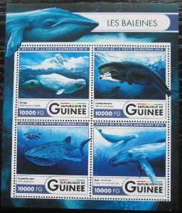 Guinea 2016 Velryby Mi# 11941-44 Kat 16€ 2551
