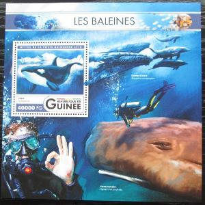 Guinea 2016 Velryby Mi# Block 2684 Kat 16€ 2551