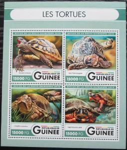 Guinea 2016 Želvy Mi# 12036-39 Kat 24€ 2552