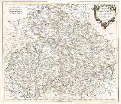 Vaugondy - Santini, Boheme, mědiryt 1777