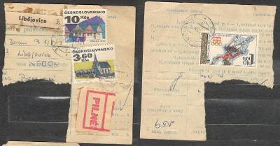 Balíková poštovní průvodka 1984, razítko LIBĚJOVICE