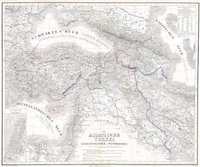 Asiatische Türkey, Kiepert, oceloryt 1867