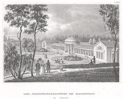 Mariánské lázně Ferdinandův, Meyer, oceloryt, 1850