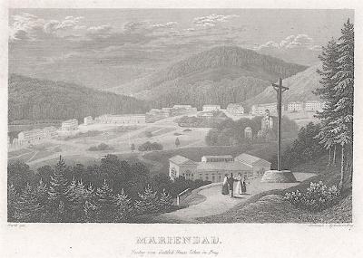 Mariánské Lázně, Haase, oceloryt 1838