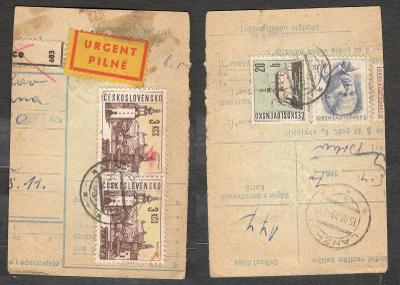 Balíková poštovní průvodka 1984, razítko ŽELEŠICE (Brno venkov)