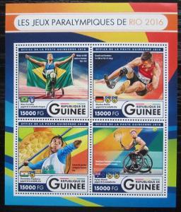 Guinea 2016 Paralympiáda Rio de Janeiro Mi# 12141-44 Kat 24€ 2553