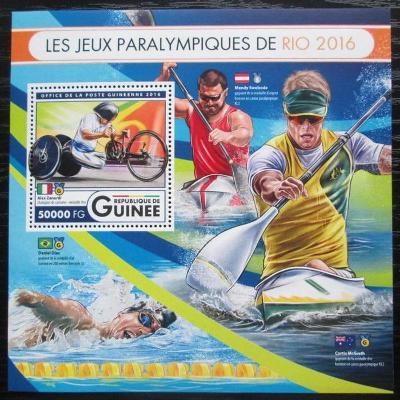 Guinea 2016 Paralympiáda Rio de Janeiro Mi# Block 2724 Kat 20€ 2553