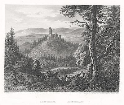 Kostomlaty, Mikovec, oceloryt 1860