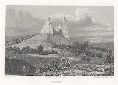 Trosky, Gerle, oceloryt, 1842