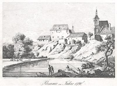 Řesanice, Heber , litografie, 1844