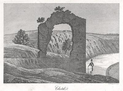 Chotek - Kotek, Heber, litografie, 1843