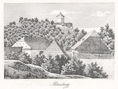 Petrohrad u Podbořan, Heber, Litografie, 1845