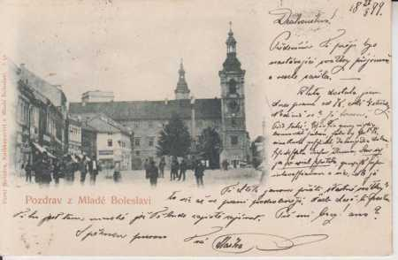 Mladá Boleslav - část náměstí - radnice, DA