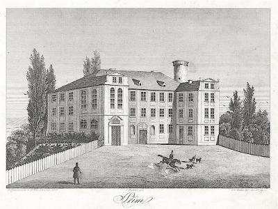 Dolní Přím, Heber, litografie, 1847