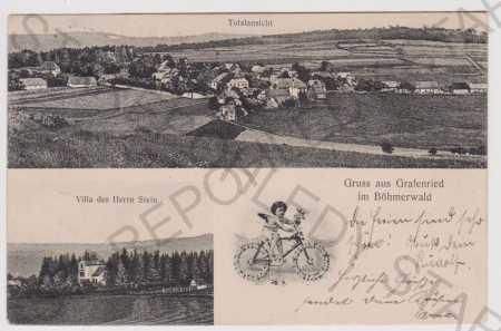 Lučina (Grafenried) - celkový pohled, vila Stein,