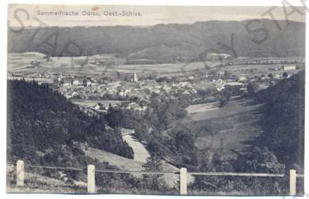 Odry (Odrau), celkový pohled, silnice