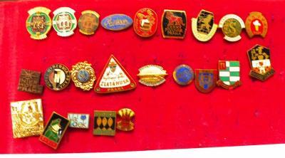 Starý odznak - firma - podnik - smalt - konvolut