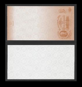 ceninový tisk GOZNAK s motivem bankovky 100 rublů - verze 2 - stav UNC