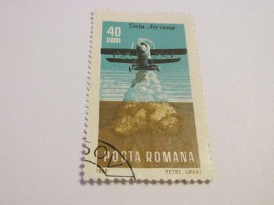 Známky Rumunsko 1968, Letadla v zemědělství