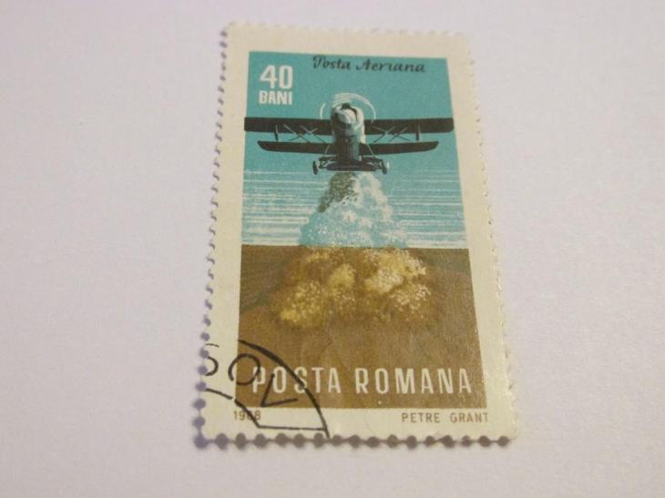 Známky Rumunsko 1968, Letadla v zemědělství - Filatelie