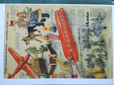 Stará reklamní Katalog výrobků Bata Zlín guma voják hračka kopie