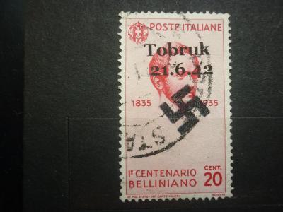 TOBRUK 1942 IIWW KRIEG VÁLKA REICH ŘÍŠE PŘETISK !!!! R