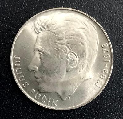 🌶vzácná stříbrná mince 100 Kčs 1978 Julius Fučík,perfektní stav
