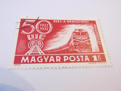 Známky Maďarsko 1972, Lokomotivy - 50 let Mezinár.železniční unie