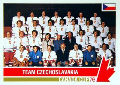 Československo týmová hokejová karta Canada Cup 1976 If #120