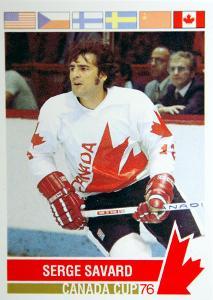 Serge Savard hokejová karta Canada Cup 1976 #117