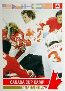 Kanada a příprava na Canada Cup 1976 hokejová karta #116