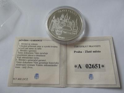 Pamětní mince 15 PRAHA