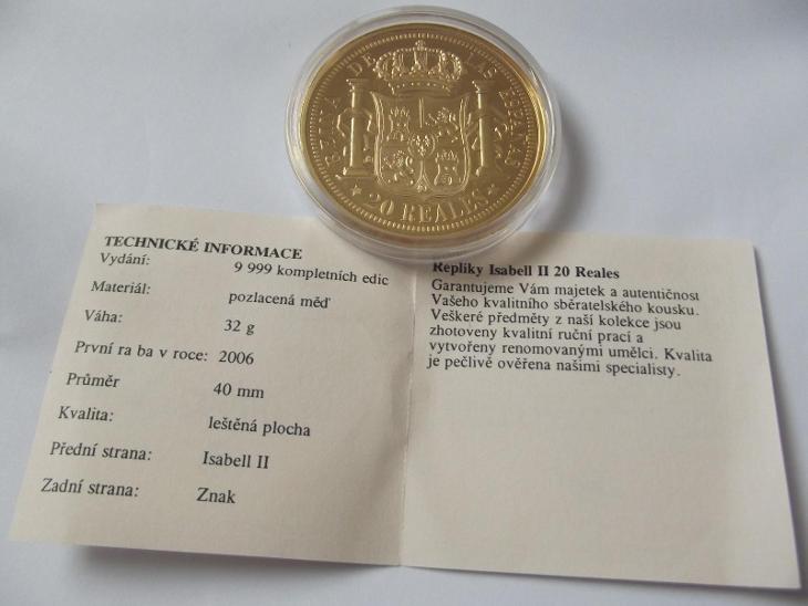 Pamětní mince 16 ISABELL - Numismatika