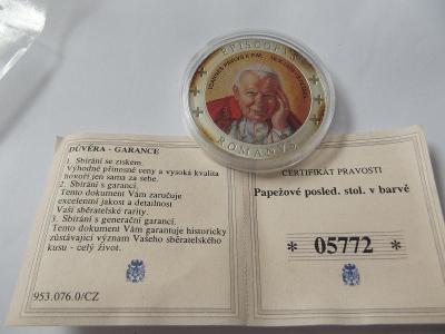 Pamětní mince 18 PAPEŽ