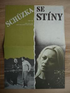 Schůzka se stíny (filmový plakát, film ČSSR 1982, rež