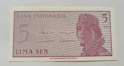 Bankovka Indonesia 1964