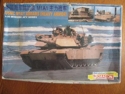 M1A1 Abrams Shanghai Dragon 1:35 horší krabička