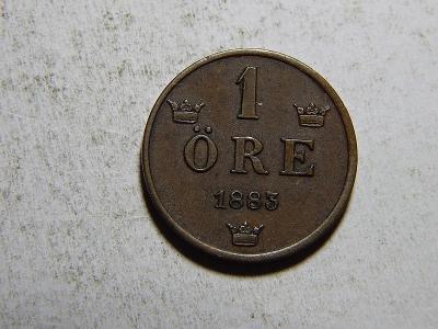 Švédsko 1 Öre 1883 XF-UNC č35646
