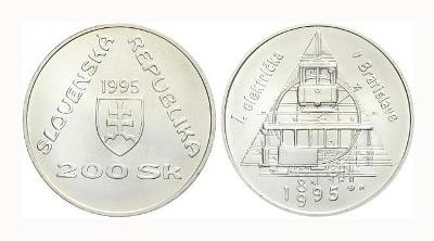 SR, 200 SK, Prvá električka v Bratislave, 1999, Ag 0,750 váha 20 gramů