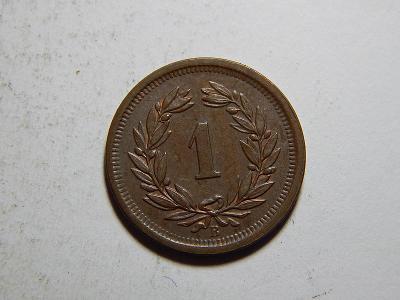 Švýcarsko 1 Rappen 1895 B UNC č35600